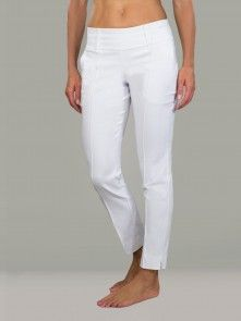 Slimmer Cropped Pant - White