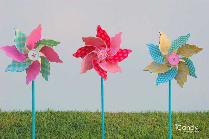 DIY Fabric Pinwheels