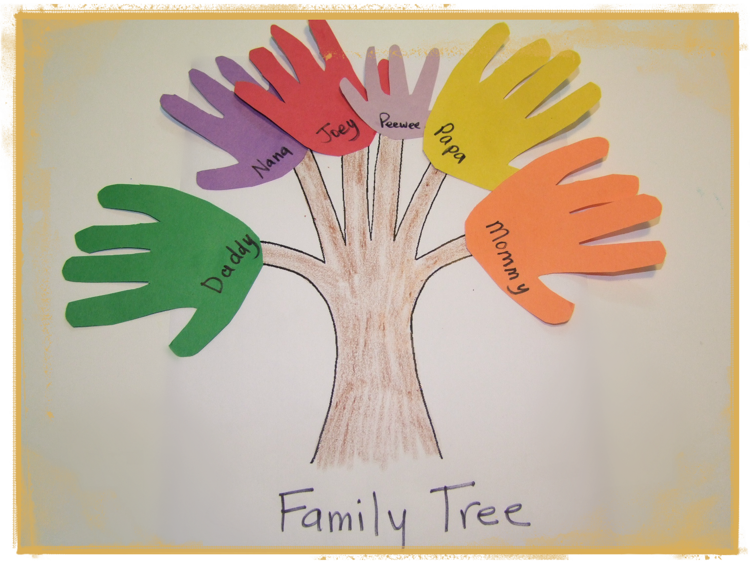 Family Tree Toddler Craft