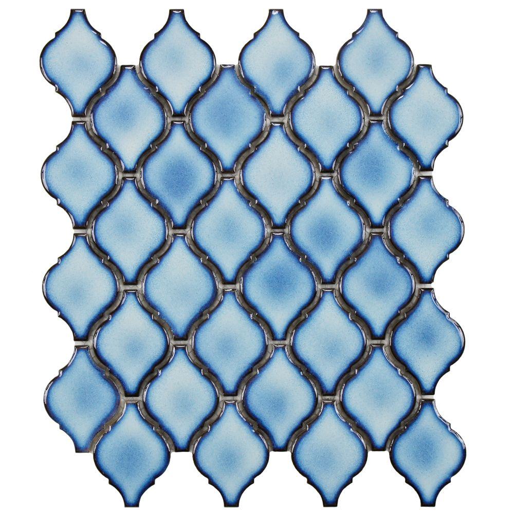 SomerTile 11 x 9.75-inch Casablanca Aella Porcelain Mosaic Tile ...