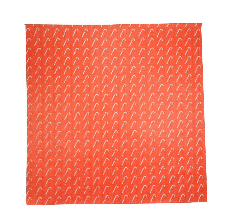Regency Wraps Rw376cc 50 Treat Sheets Festive Candy Cane