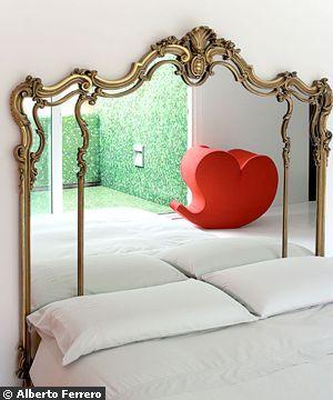 une t te de lit pour un dodo 100 d co beaux lits miroirs et lits. Black Bedroom Furniture Sets. Home Design Ideas