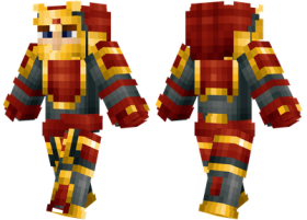 Minecraft Skins Gold Samurai Skin Png Image With Transparent Background Png Free Png Images Samurai Minecraft Skins Free Png