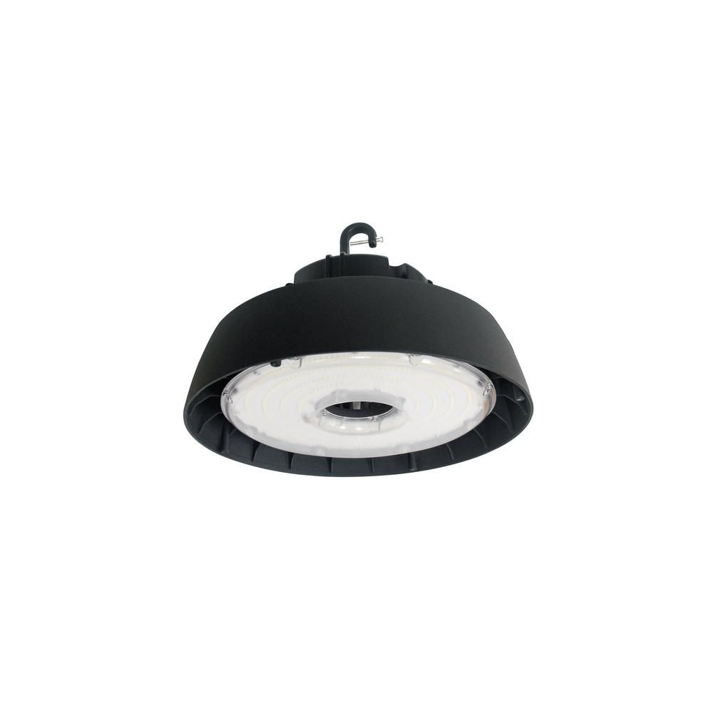 Halco Lighting Technologies 600-Watt Equivalent 200-Watt Black Integrated LED Round High Bay UFO Light Fixture Daylight-RHB200/110U/50 10258 #ledtechnology