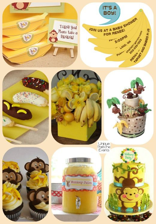 2016 Year Of The Monkey And Bananas Baby Shower Ideas Ideaboard