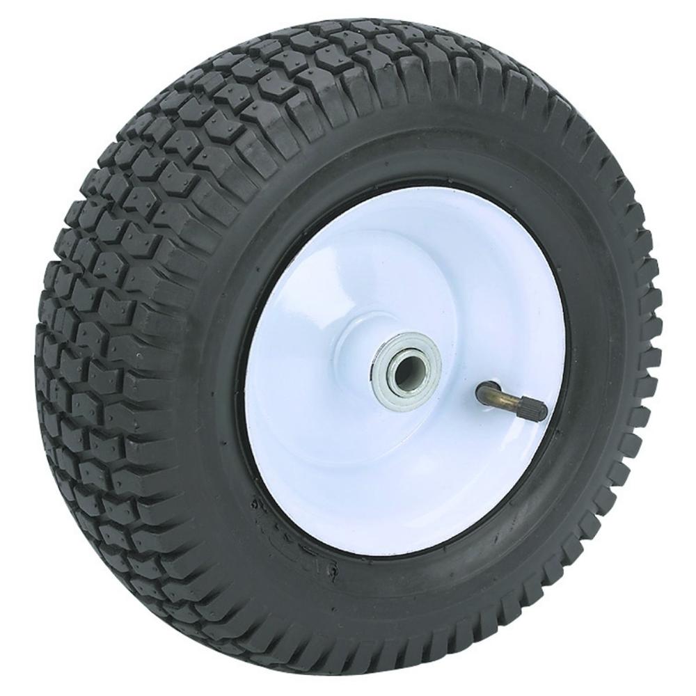 13 In Pneumatic Tire With White Hub Garden Wagon Wheelbarrow Garden Rubber Tires