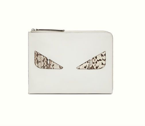 2dd1f65b3d8 Fendi Bag Bugs clutch in white. Fendi Bag Bugs, Heart Eyes, Beautiful Bags