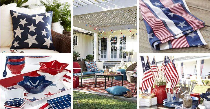 Patriotic Home Decor Under 50 American Flag Inspired Home Goods Flag Decor Patriotic Decorations Home Decor