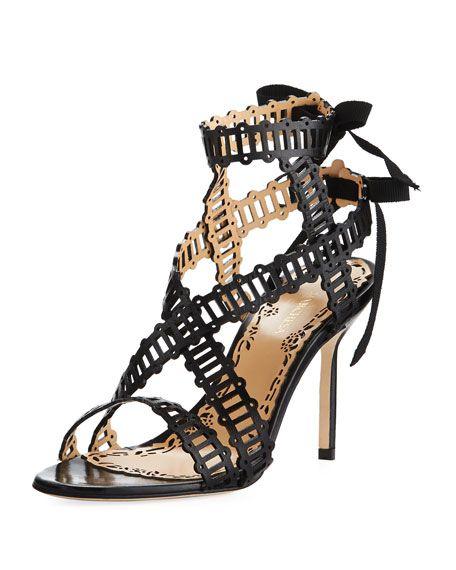 718a770edc MARCHESA Sarah Strappy Evening Sandal, Black. #marchesa #shoes ...