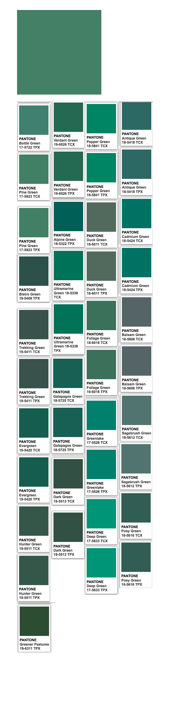 Pine (web) and Pantone related colors | Color Thesaurus, Color ...