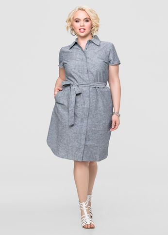 linen chambray shirt dress | best dressed | pinterest | chambray