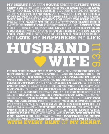 beautiful vows - I want to do something like this with our vows ...