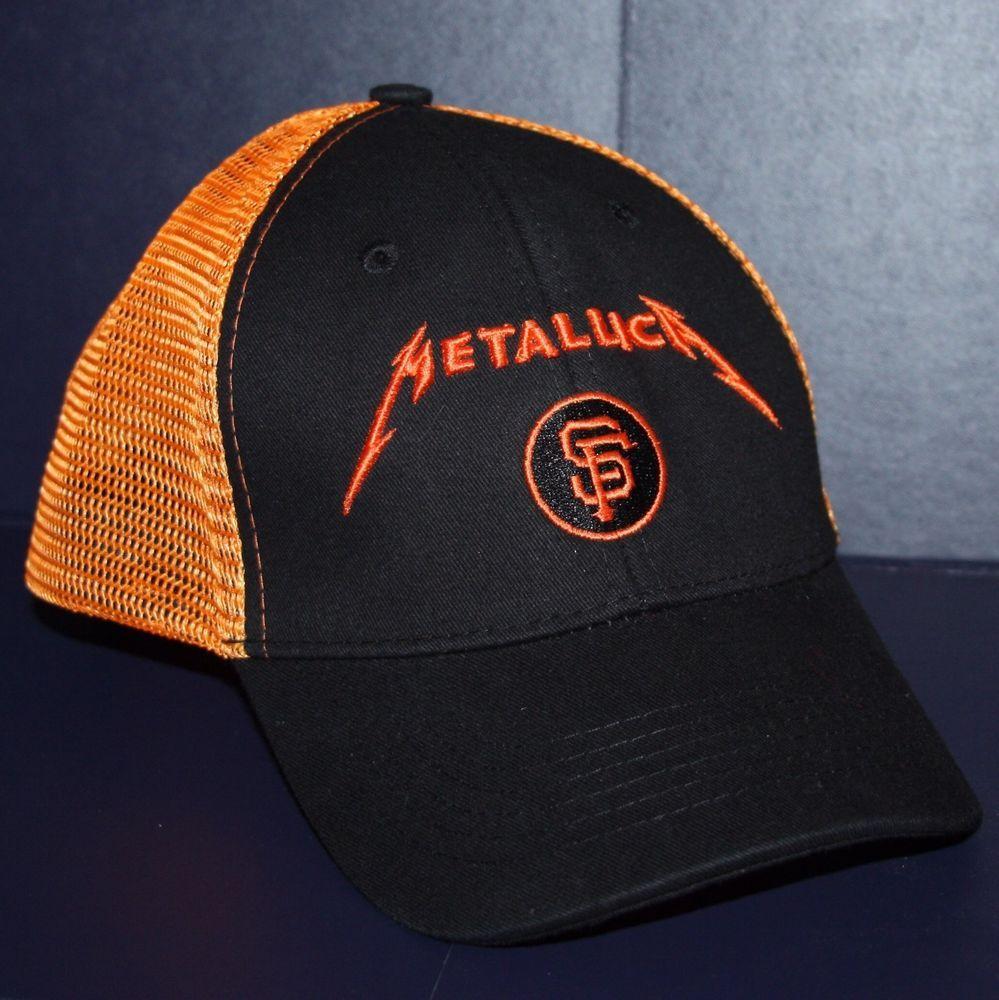 2013 San Francisco Giants Metallica Hat Cap 5/13/13 New