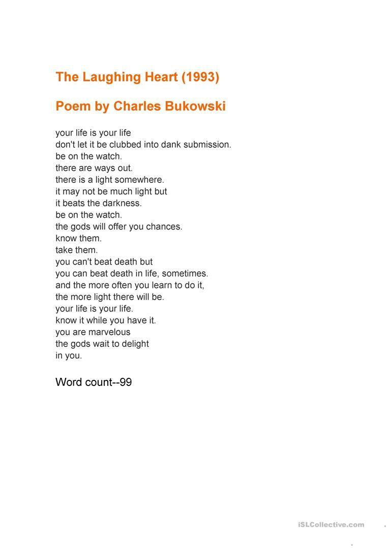 Poemas De Charles Bukowski Sobre El Amor Laughing Man Charles Bukowski Poem Citas De Libros Poemas