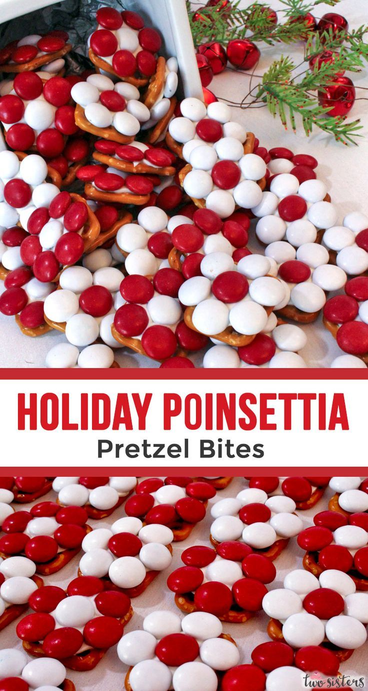 Photo of Holiday Poinsettia Pretzel Bites