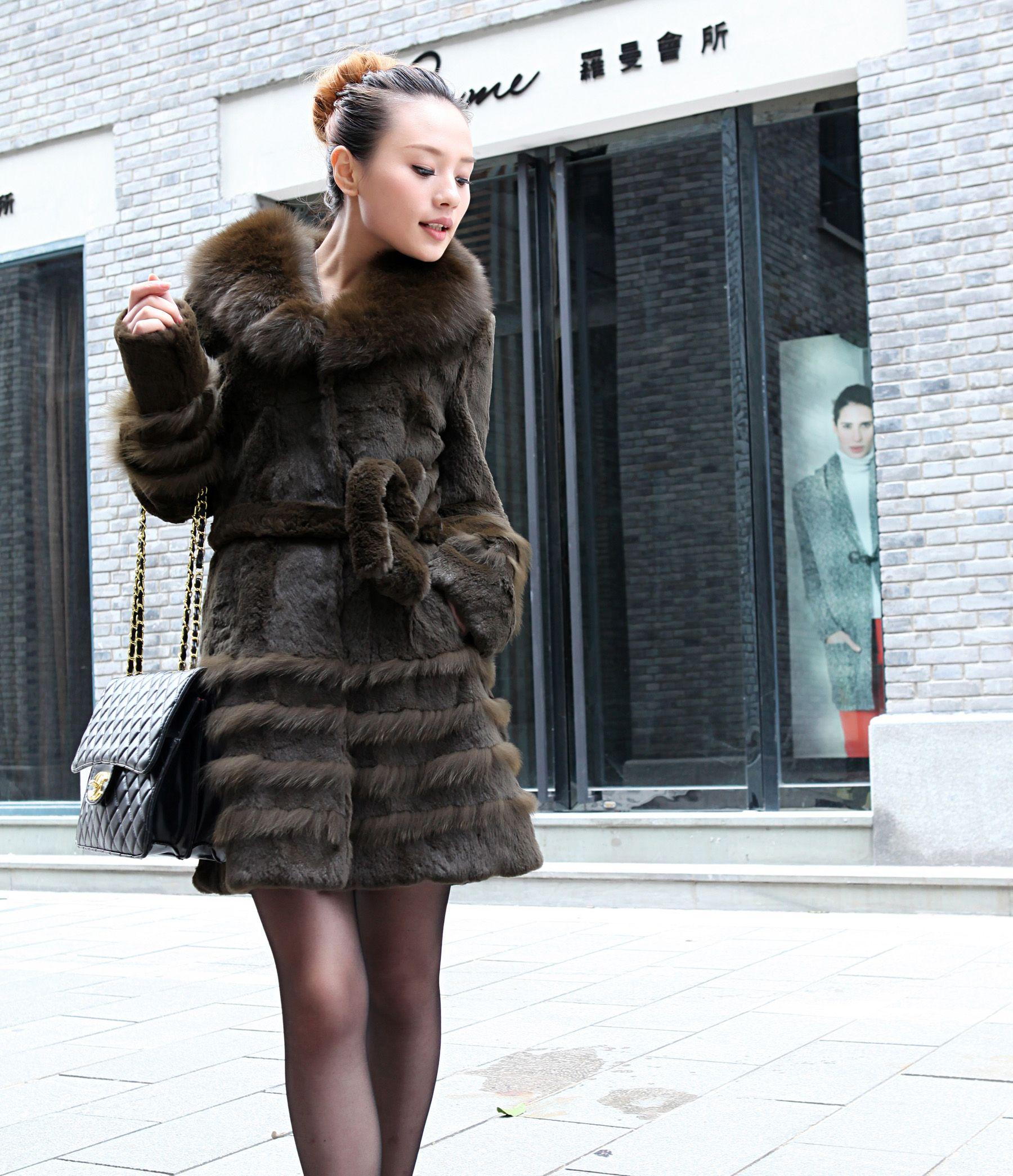 Taobao Long section of the winter coats Women's fur coat genuine ...