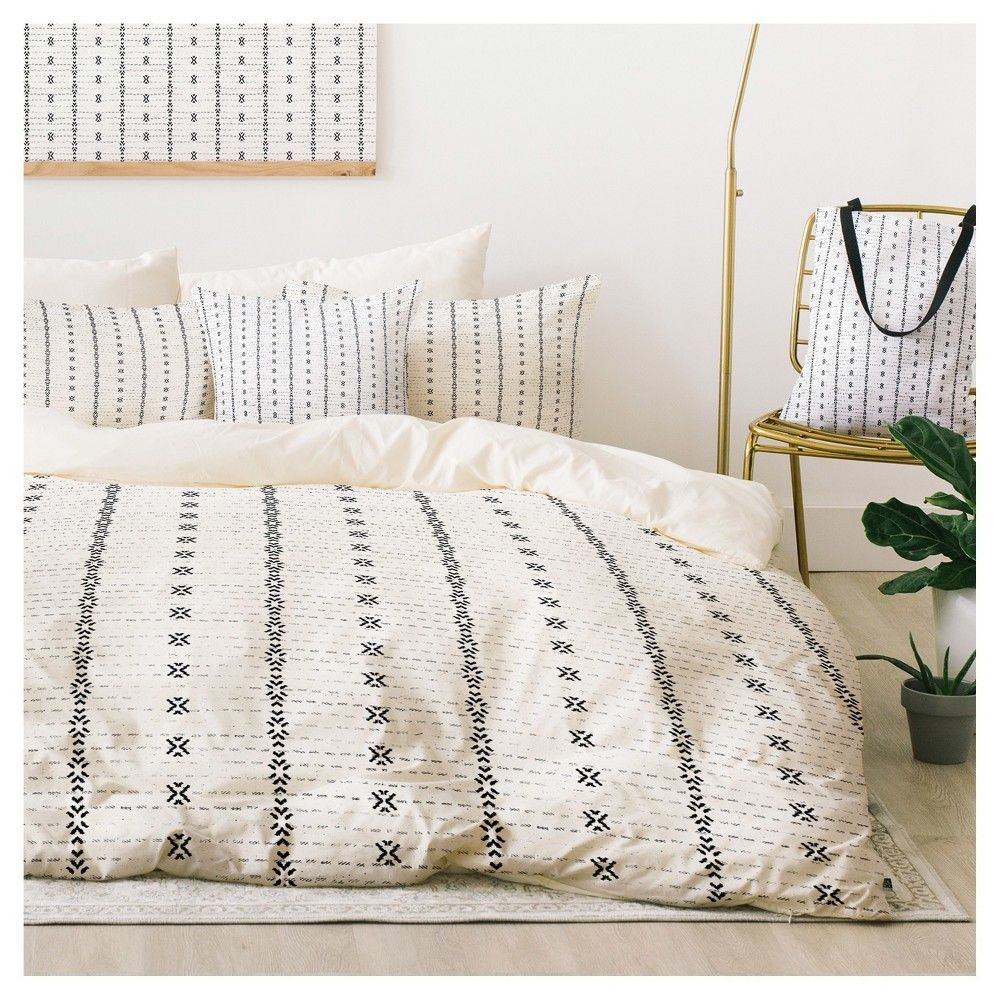 Gray Holli Zollinger French Tribal Stripe Duvet Cover Set