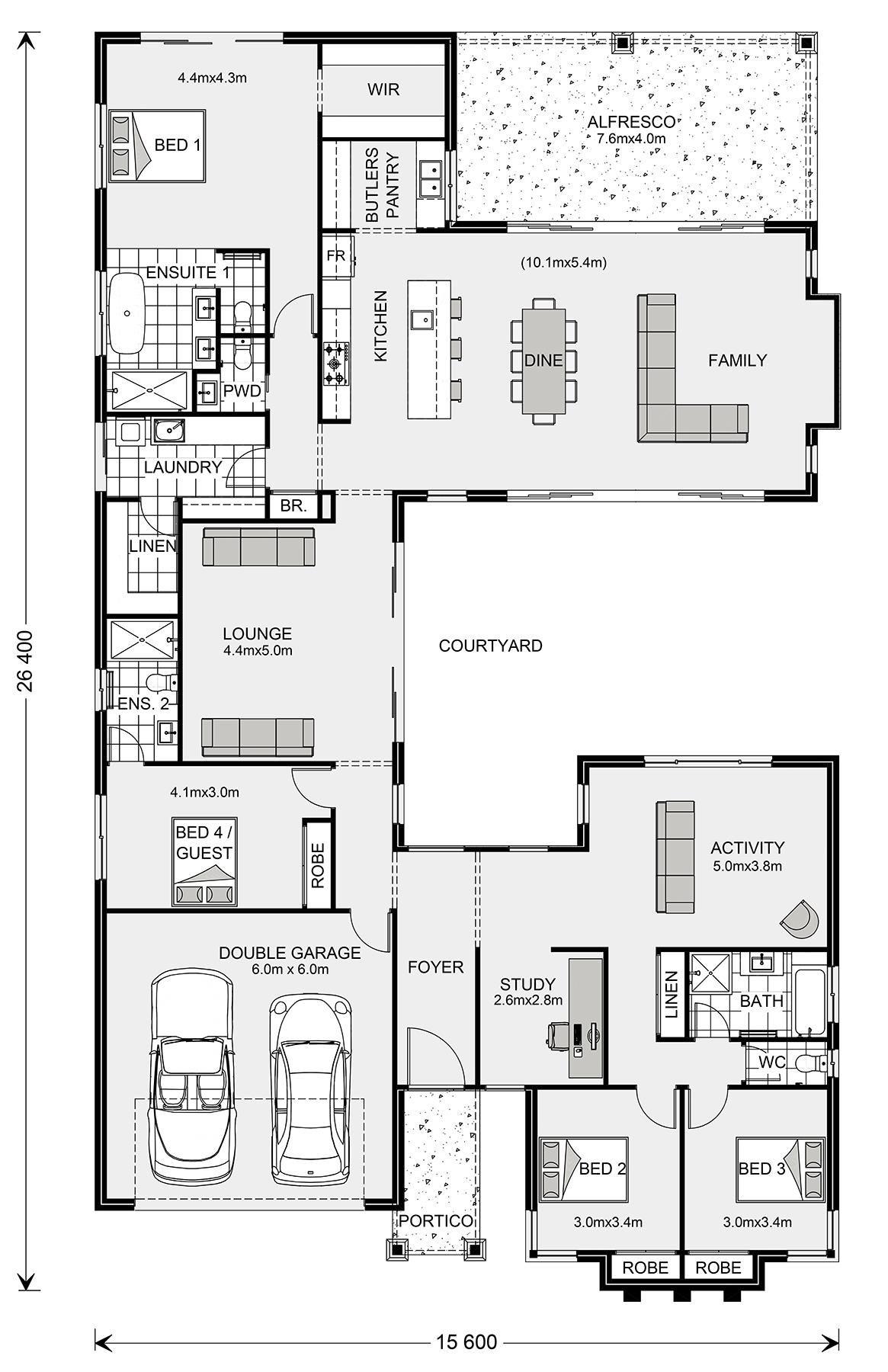 Floor Plan Mandalay 335 Home Design Bungalow Floor Plans Home Design Floor Plans Floor Plan Design