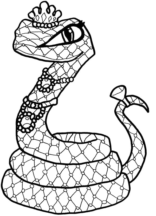 Captivating Cleo De Nile Snake Coloring Page