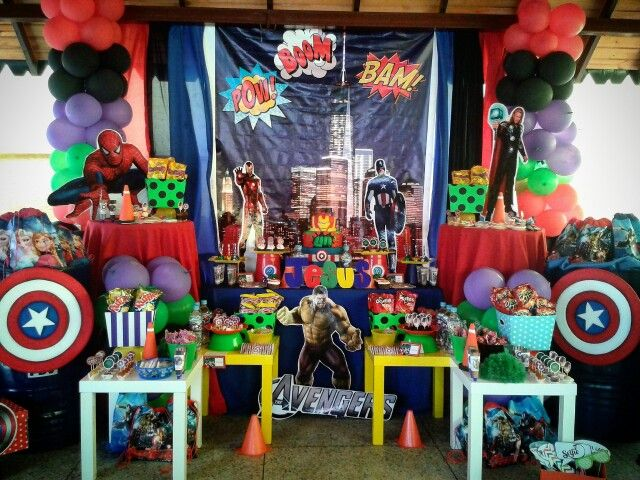 Mesa Principal The Avengers Avengersparty Avengers Party Theavengers Losvengadores Ideas Fiesta Avenger Birthday Party Avengers Party Avengers Birthday