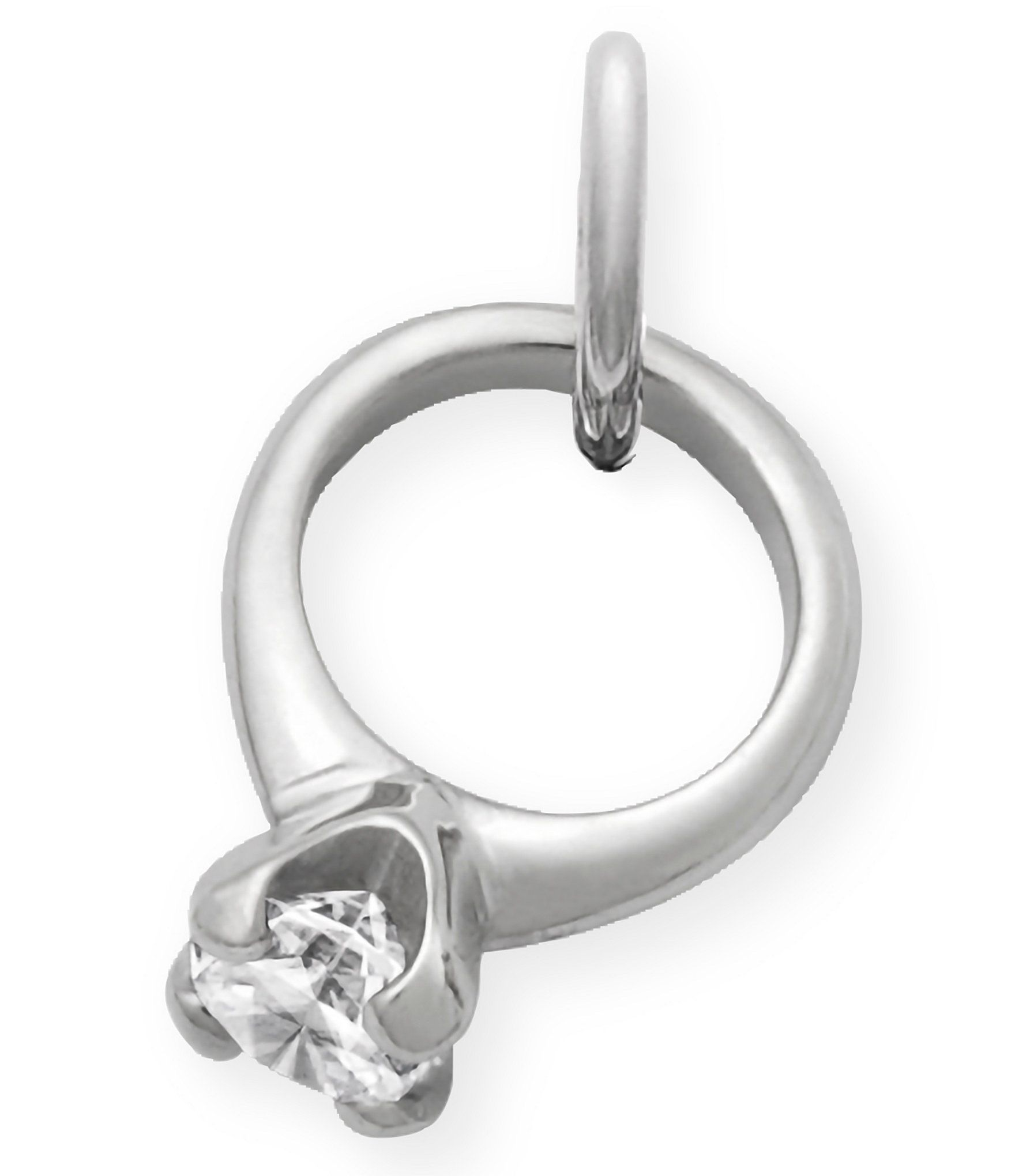 James Avery Engagement Ring Charm With Cubic Zirconia Dillards