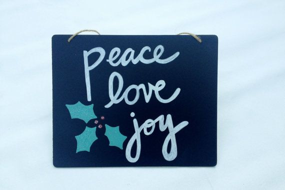 Love joy and peace Hand painted sign
