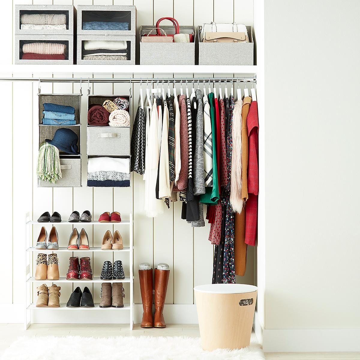 Grey Cambridge Purse Storage Bin Clothing Rack Bedroom Closet