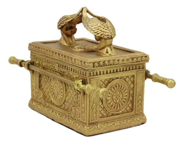 Matte Gold Ark Of The Covenant Model With Contents Figurine Decorative Box 1 10 Wish In 2021 Decorative Boxes Miniature Figurines Matte Gold