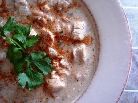 White bean chicken chili.