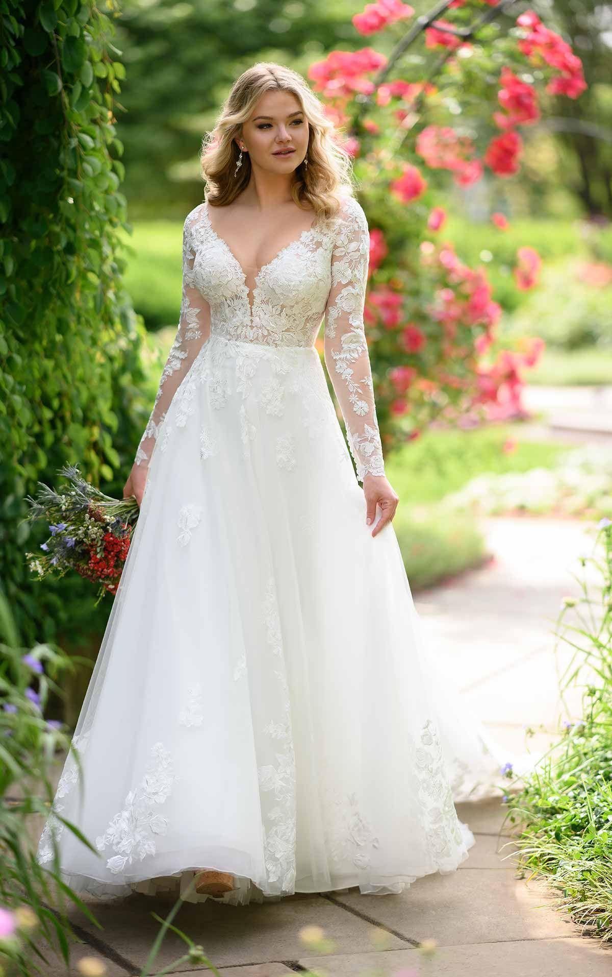 VintageInspired Organic Lace Wedding Gown Wedding