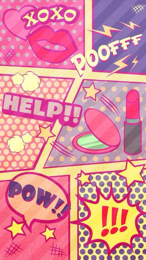 Wallpaper BackgroundsPink Background WallpapersPhone PinkPop Art BackgroundCellphone WallpaperCute