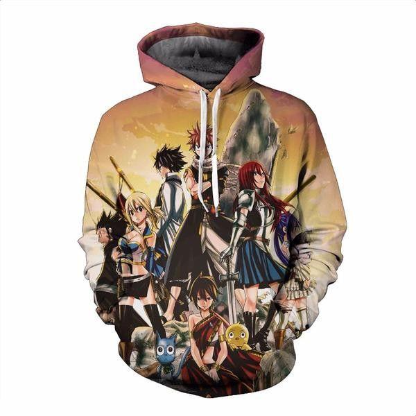9c03ae256 Fairy Tail 3D Hoodie   hoodie   Anime jacket, Hoodies, Hooded ...