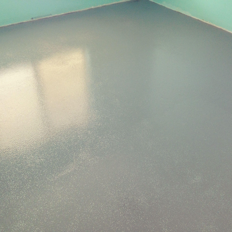 Indianas Room Epoxy Glitter Floor Two Coats Of Grey Epoxy And - Sparkle garage floor paint