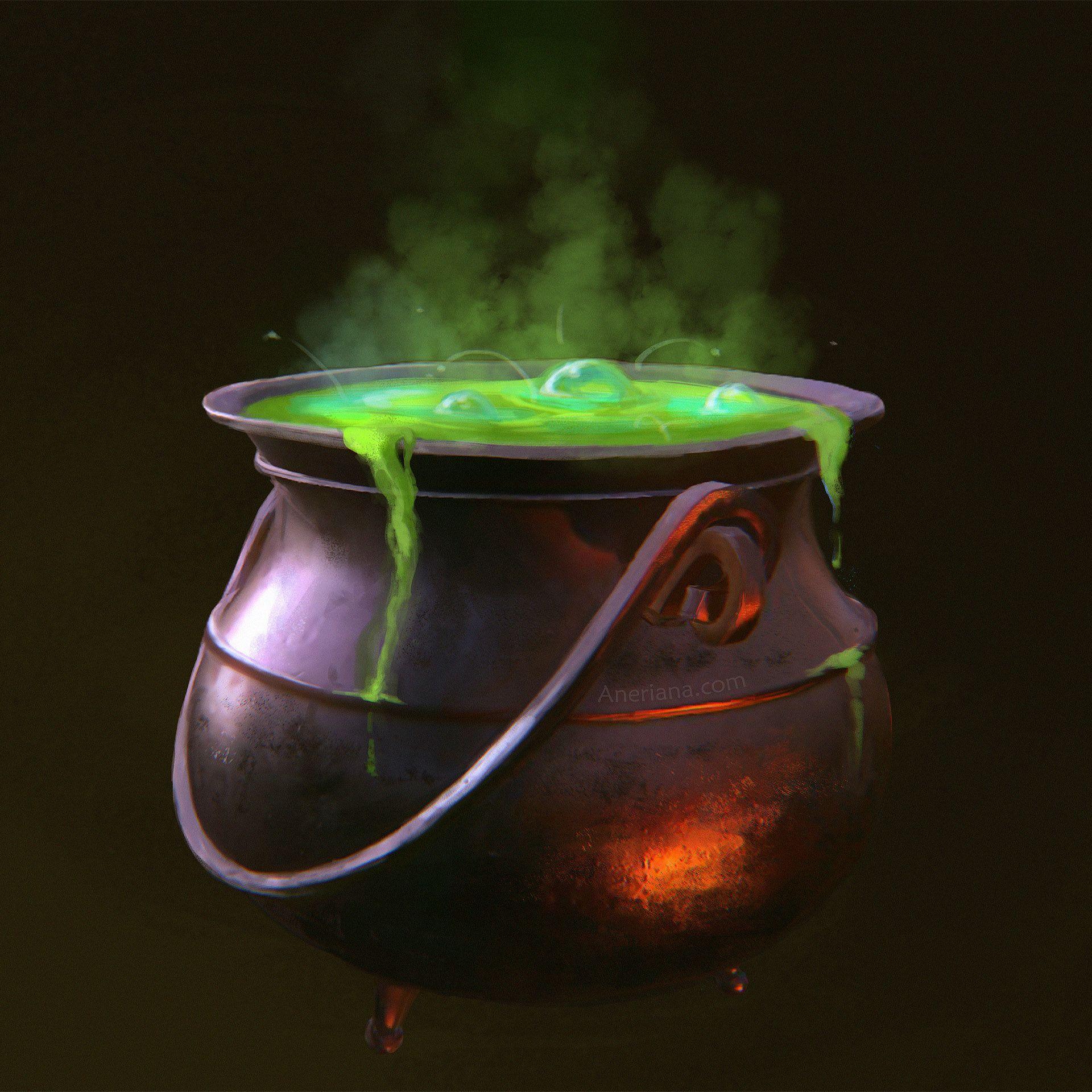 Aneriana on Twitter in 2021 | Halloween digital art, Cauldron, Witches  cauldron