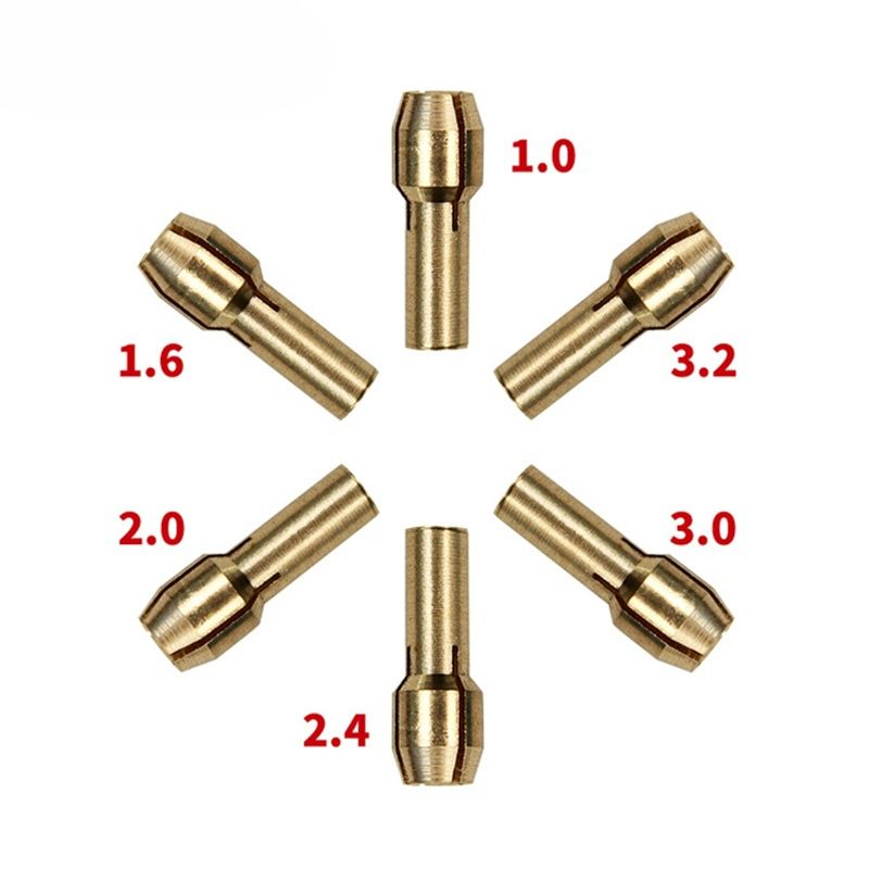 6 Piece Mini Drill Brass Collet Chuck for dremel rotary tool