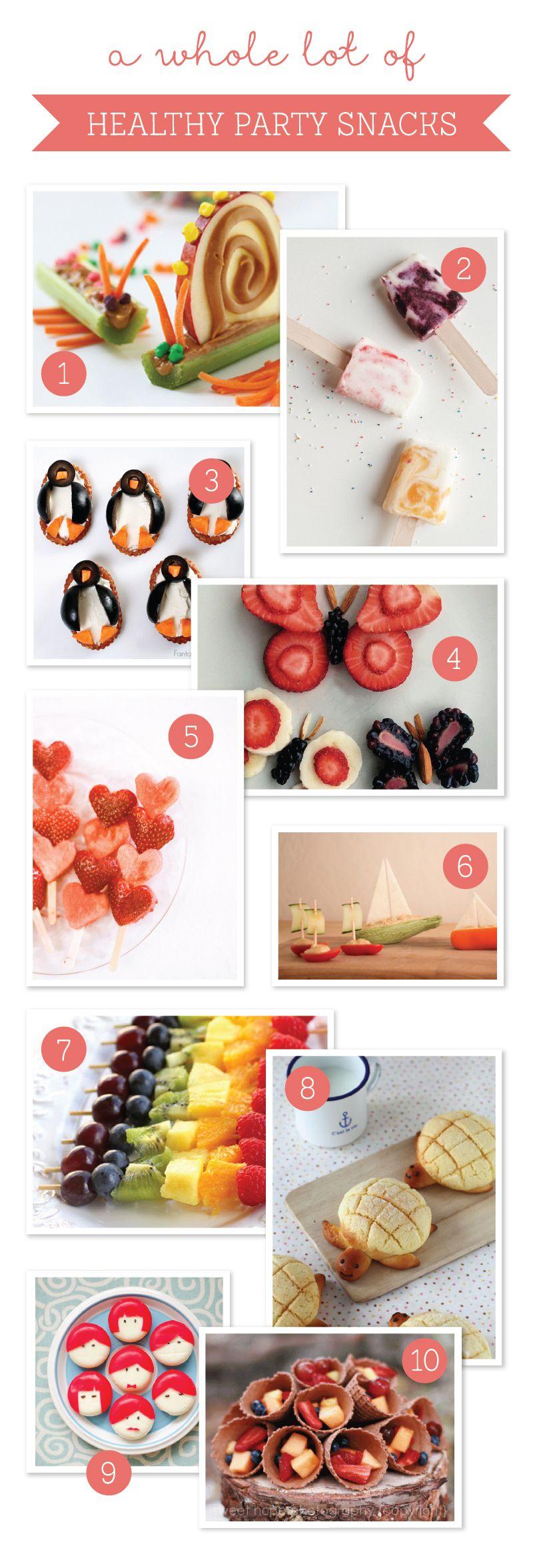 10 Delicious & Nutritious Party Snacks Healthy party