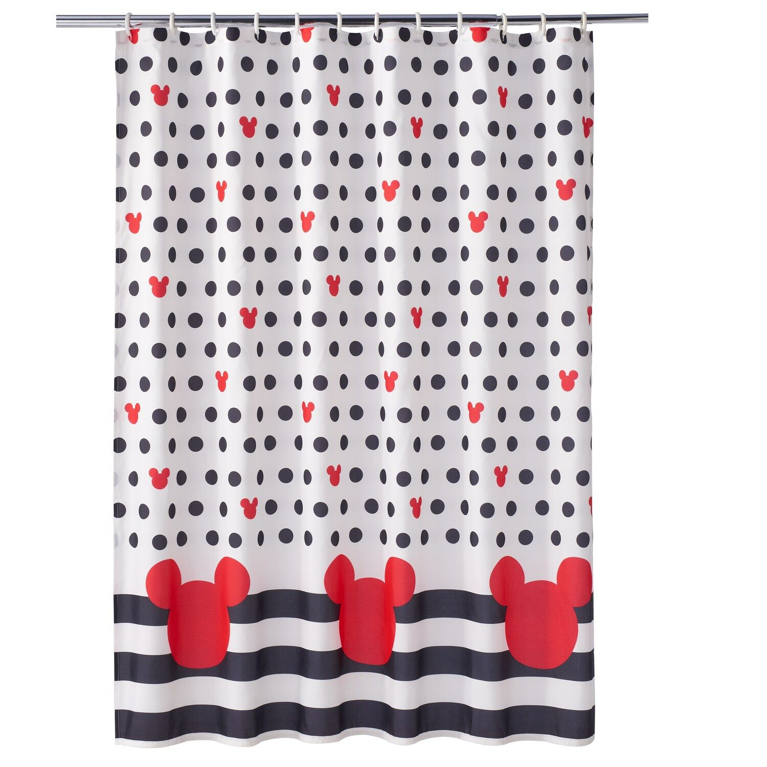 Disney S Mickey Minnie Mouse Bath Accessories Collection Affiliate Minnie Affiliate M Mickey Mouse Shower Curtain Mickey Mouse Bathroom Mickey Bathroom