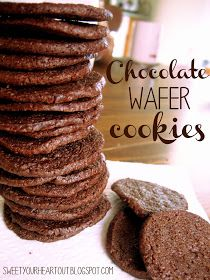 Sweet Your Heart Out: Chocolate Wafer Cookies for Dairy queen copy cat ice cream cake crunchies :)