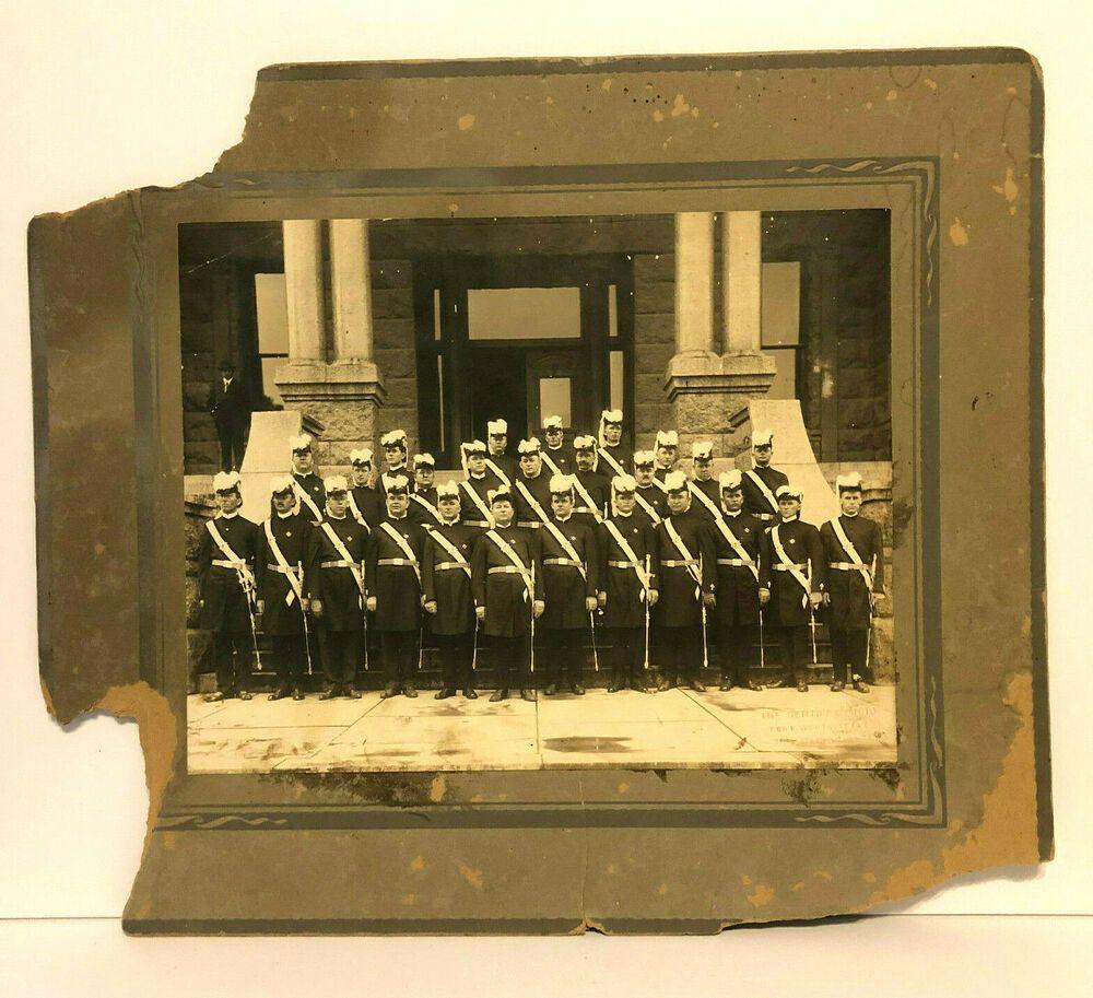 Antique historical freemasonry lodge members photograph ft