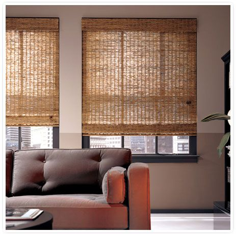 Exercise Room Our Featured Window Blinds Of The Week Hunter Douglas Provenance Woven Wood Blinds And Shades Woven Wood Shades Living Room Blinds Bamboo Blinds