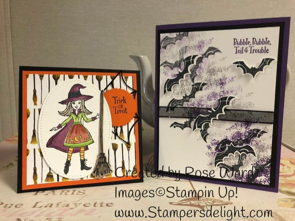 Halloween Cards Halloween 2018 Hand Stamped Cards Fall Cards Holiday Cards Kids Cards Creative Cards Homemade Cards Cauldron Christian Christmas
