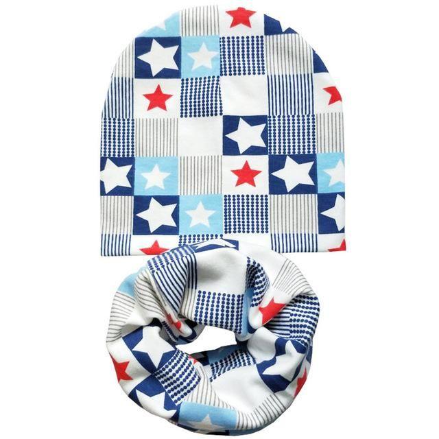 Cotton Baby Hat Set Ice Cream Love Print Cotton Cap Baby Hats Newborn 254481e8628d