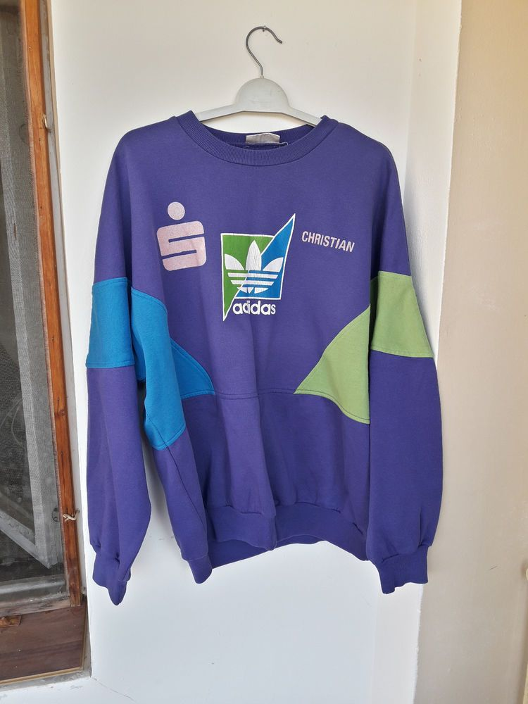 Rertro Vintage Adidas 80's Sports Sweatshirt Jumper Sweater