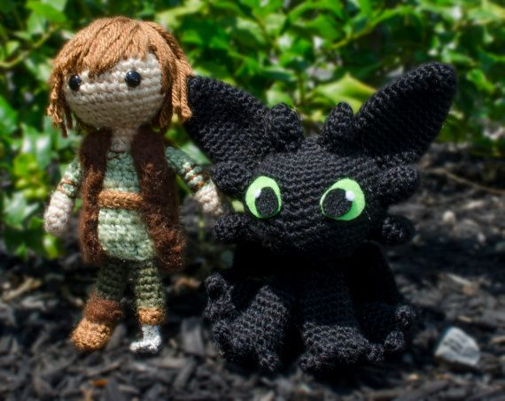 Amigurumi Toothless : Hiccup and toothless how to train your dragon amigurumi i know a