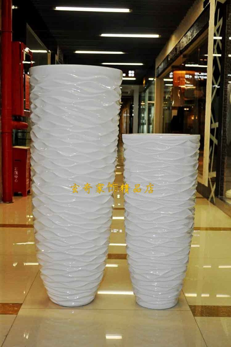 Design Modern Floor Vases 112 wavy white large floor vase modern fashion flower brief brief