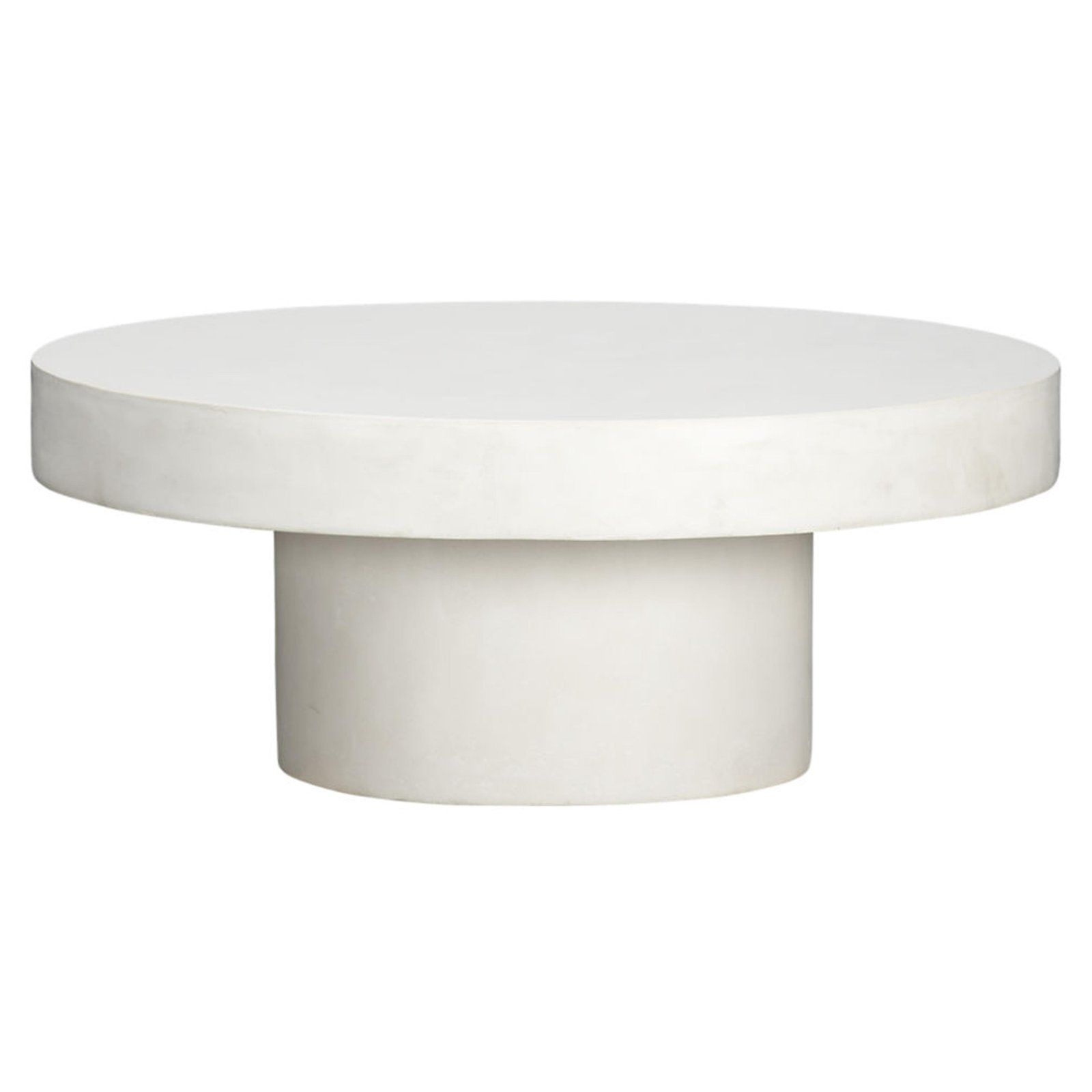 Cb2 Chic Round White Concrete Coffee Table For Sale Image 4 Of 6 White Round Coffee Table Round Coffee Table Modern Coffee Table