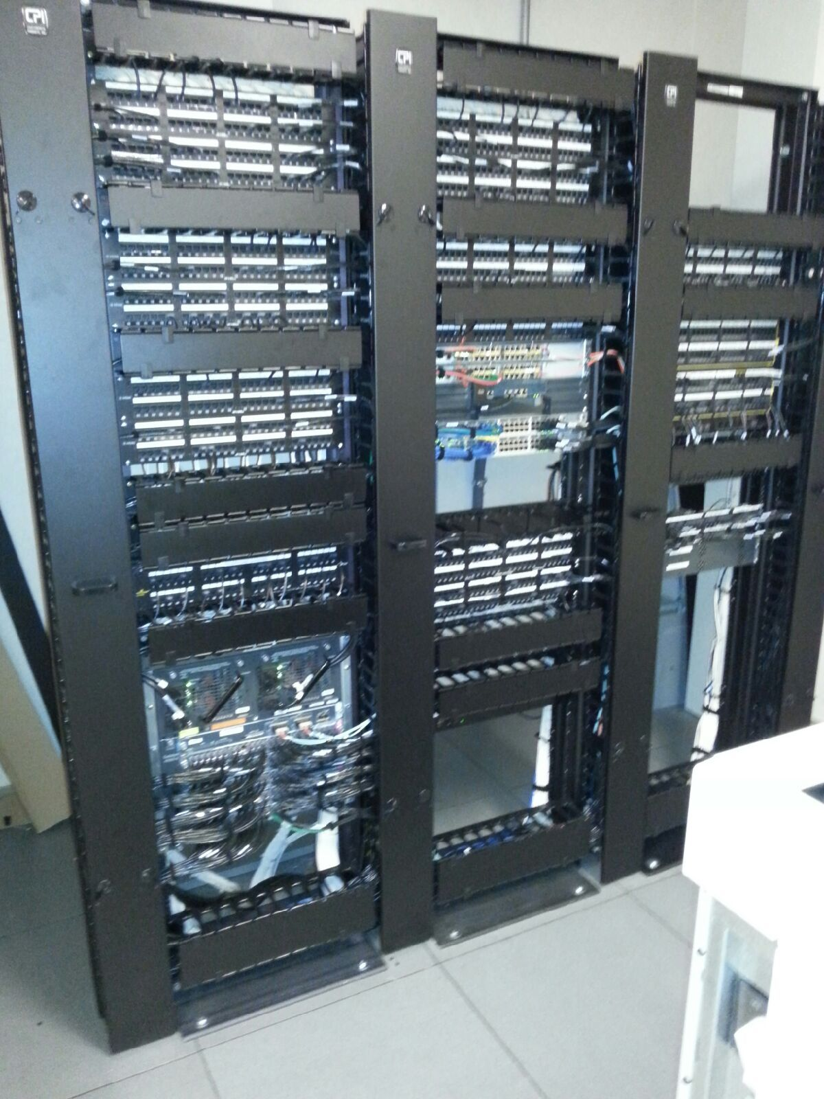 fixing up a networking rack patch panels and cisco switches  [ 1200 x 1600 Pixel ]