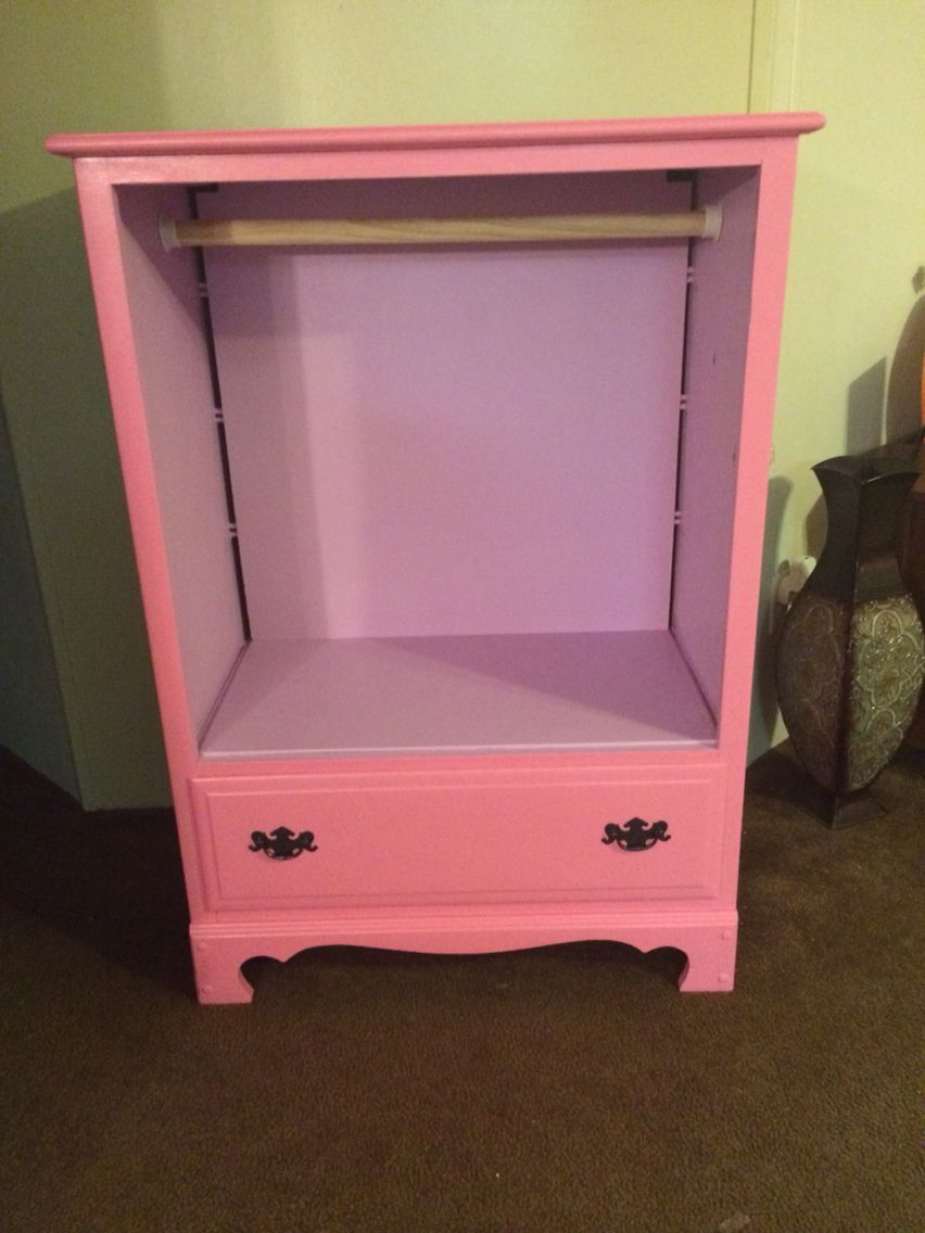 Old dresser to princess dress up armoire | Old dressers ...