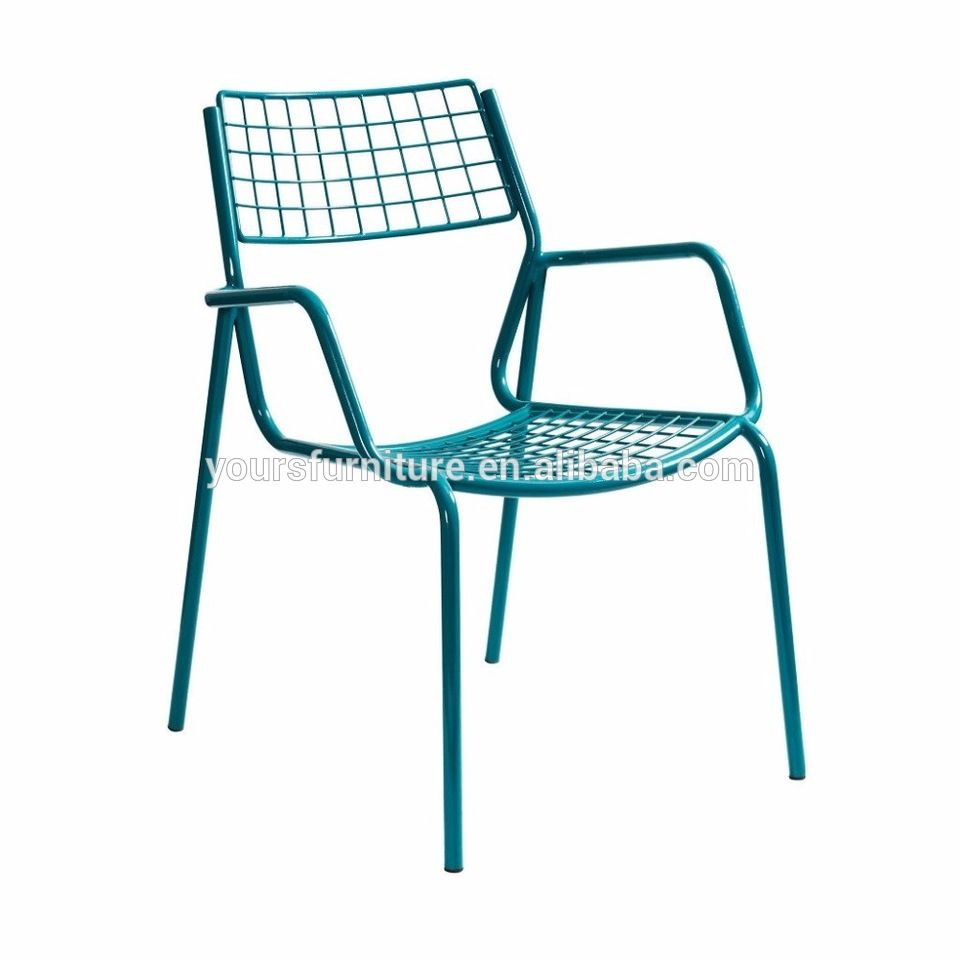 blue cafeteria wire armchair for dining | alibaba | Pinterest ...
