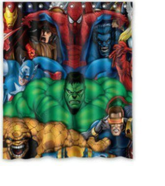 Whitexue Marvel Comics Hero Spider Man Hulk Waterproof Custom Waterproof Shower Curtain 60x72 Inch Surprised Gift By Whitexue Custom For More Informati Com Imagens Herois